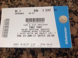 """Take That Ticket, Carrow Road, Thursday, 15 June 2017@"""""""