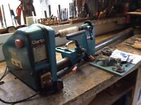 Clarke CWL 12C wood turning lathe and accessories