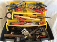 Stanley tool box complete with tools