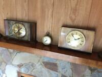4 vintage old collectors clocks to repair or ornament. Not working