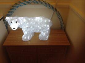 Xmas led polar bear