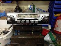 Classic car radio 1960s