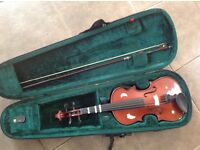"Violin 3/4 (13"") with bow and case £20"