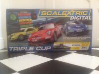 Scalextrix Digital Triple Cup In box. Huge Set. As New. Only Tested, never played. Fully Working.
