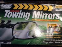 A brand new pair of towing mirrors