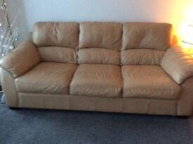 Scs 3 seater leather sofa