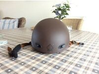 Snowboarding Safety Helmet by PRO-TEC. Excellent condition. Colour brown with black detail.