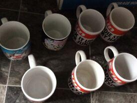 Set of 7 mugs brand new, mixed designs