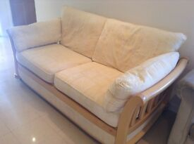 Three seater sofa with removable cotton cushion covers
