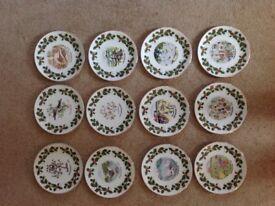 Royal Grafton Plates. Twelve days of Christmas. complete set. From smoke free home.
