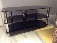 Black glass to stand 105L x 53h X 45d