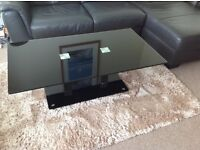 Coffee table, nest of 2 tables and TV shelf unit
