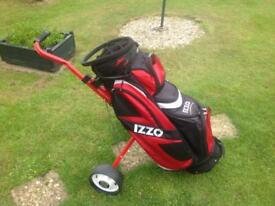 Golf bag and trolley for young lad