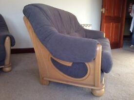 Comfortable sofa and chair.