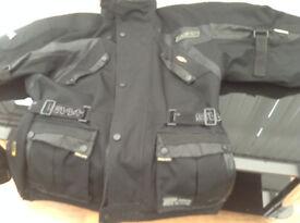 SWIFT tourismo black motorcycle jacket size XL