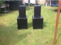 Pa System speakers like Rcf FBT Nexo Martin Audio Turbosound