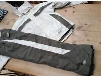 Womens 'No Fear' Ski Jacket & Salopettes bundle - Size 8