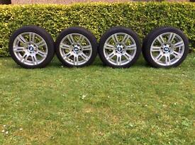 """Genuine BMW 3 series 17"""" M-Sport alloy wheels staggered setup (E90, E91, E92, E93)"""