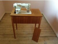 JONES Sewing Machine Which Folds Away Into Table