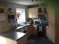 Kitchen for sale, includes integrated fridge/freezer and extractor fan