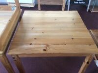Ikea pine table