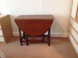Very old gateleg table