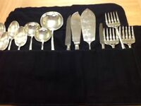 Beautiful set of 15 Silver Plated items of Serving Cutlery