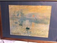 Framed Monet print