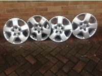 Four Vauxhall Zafira Wheel trims.