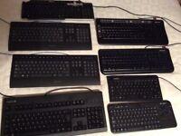Keyboards x 7 job lot.
