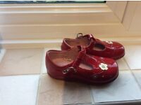Startrite girls red patent shoes