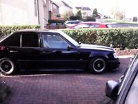 Mercedes 230 E with cosworth body kit very good classic with 1 year mot