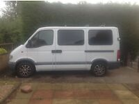 Movano van with disabled lift fitted
