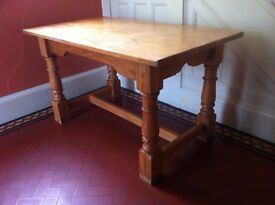 Solid Wood Rustic Farmhouse Dining Table Kitchen Island Butchers Block / Can Deliver