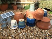 Assorted garden pots and propagater for sale