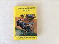 BILLY BUNTER'S BOLT - HARDBACK BOOK