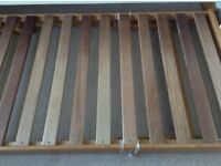 John Lewis solid wood full size spare bed frame