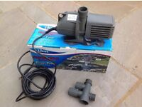 Power pump. Performance 8000 water pump for water feature, waterfall, fountain or filtration.