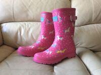 Joules Ladies Pink Wellies UK5