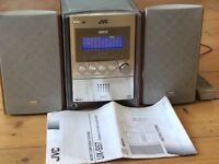 JVC Micro Component System UX-S57 CD Player (5-CD), radio, speakers, remote control, instructions.