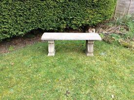 A lovely garden concrete bench £45