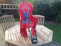 Children's bike seat fits on your seat post very little use £15