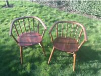 Vintage retro ercol style chairs