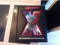 Large leather hardbacked X Men and their universe book