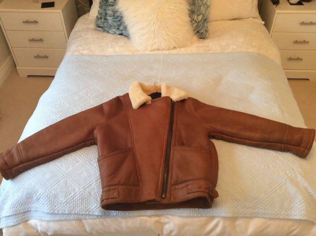 Leather sheepskin jacket