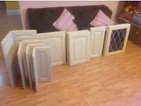 Kitchen Cupboard Doors - wood, 16 in total all unused