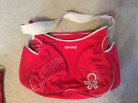 Large Red Okiedog change bag