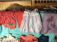 Bundle of girls clothes over 30 items age 18 - 24 moths new or little used good condition