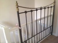 Metal frame bed head to fit king size bed