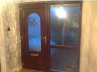 Brown PVCU door and frame
